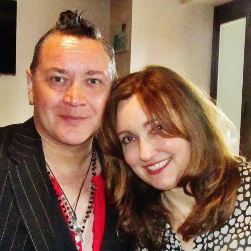 Viv Albertine with life long fan Kev Davies @ Preachers Bar Blackwood - love at first bite