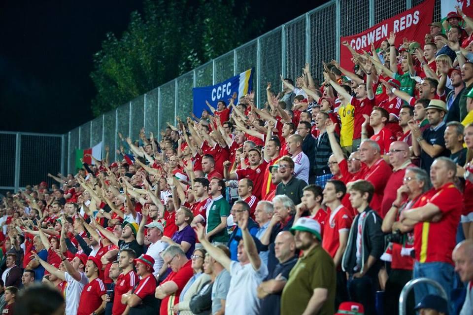 Wales fans away