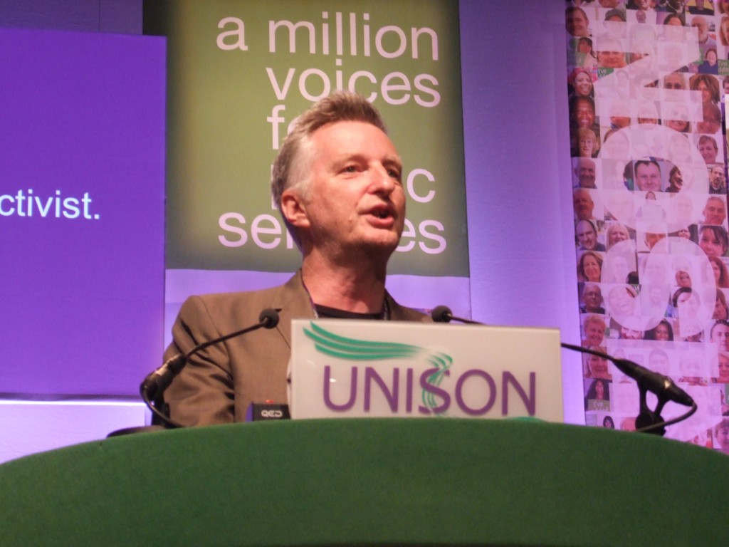 The Bard of Barking speaking to UNISON conference 2010