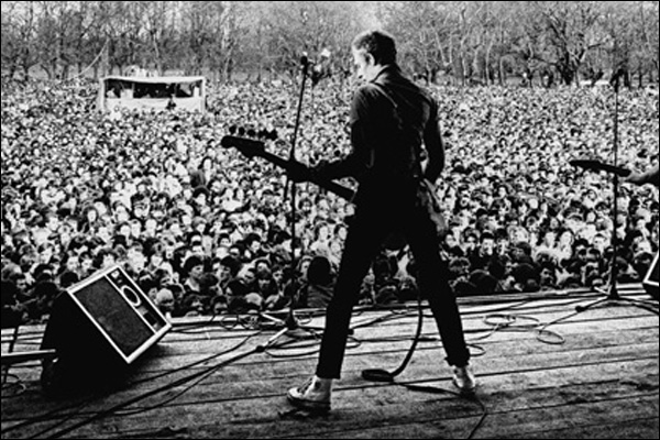 Paul Siminon of the Clash. Rock against racism gig Victoria Park, London April 1978