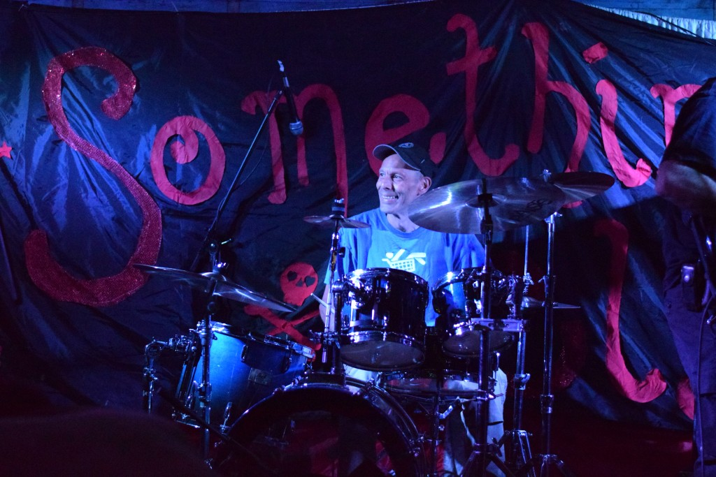 Kev banging out the rhythm at Somethingelse in the Dean